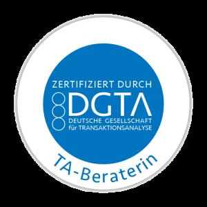 Siegel der Zertifizierung als TA-Beraterin